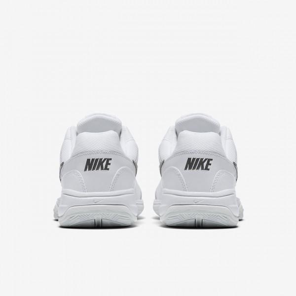 Nike Court Lite Tennisschuhe Damen Weiß Grau Silber 923-55573