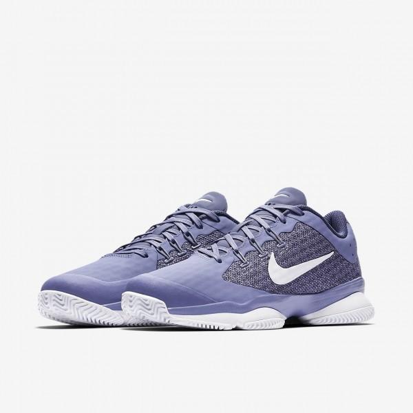 Nike Court Air Zoom Ultra Hard Court Tennisschuhe Damen Lila Blau Weiß 465-84434