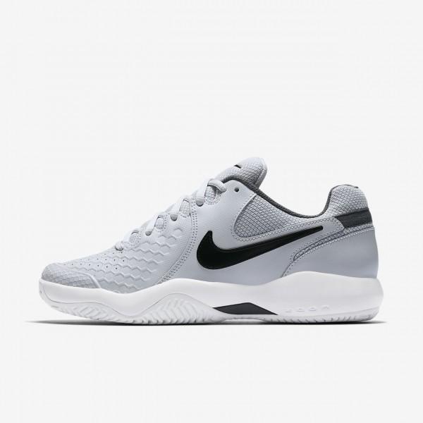 Nike Court Air Zoom Resistance Tennisschuhe Damen Platin Dunkelgrau Weiß Schwarz 468-89078