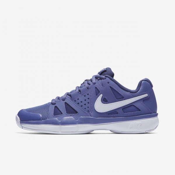 Nike Court Air Vapor Advantage Tennisschuhe Damen Lila Weiß Blau 762-24907
