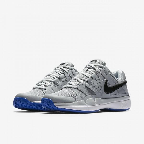 Nike Court Air Vapor Advantage Tennisschuhe Damen Grau Platin Weiß Schwarz 137-20902