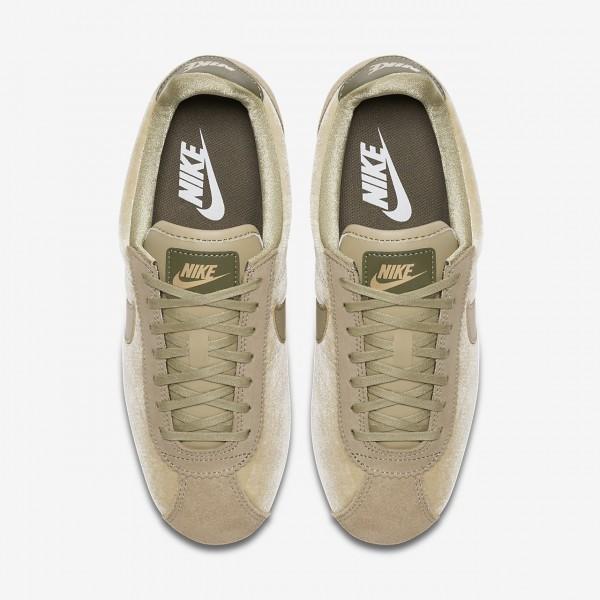 Nike Cortez Se Freizeitschuhe Damen Olive Metallic Gold Olive 233-81469