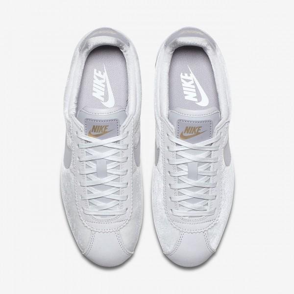 Nike Cortez Se Freizeitschuhe Damen Grau Metallic Gold 859-38899