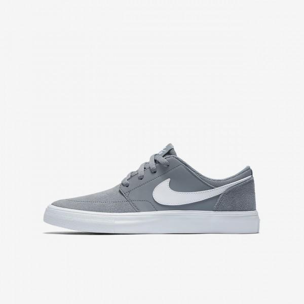 Nike Sb Portmore II Skaterschuhe Jungen Grau Weiß...