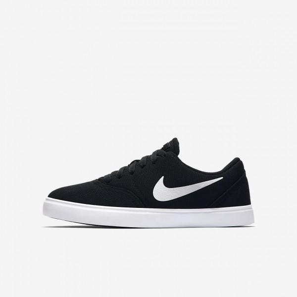 Nike Sb Check Canvas Skaterschuhe Jungen Schwarz Weiß 100-86101
