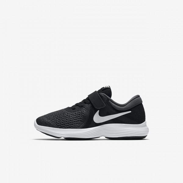 Nike Revolution 4 Laufschuhe Jungen Schwarz Weiß ...