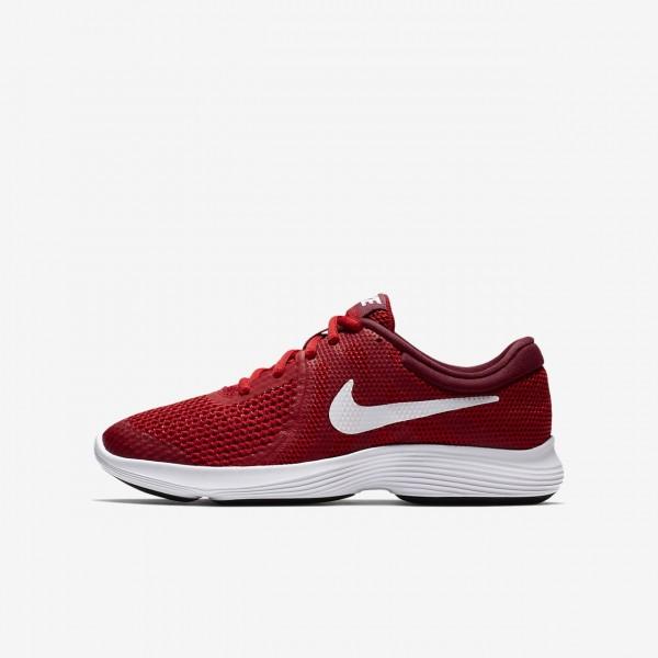 Nike Revolution 4 Laufschuhe Jungen Rot Schwarz We...