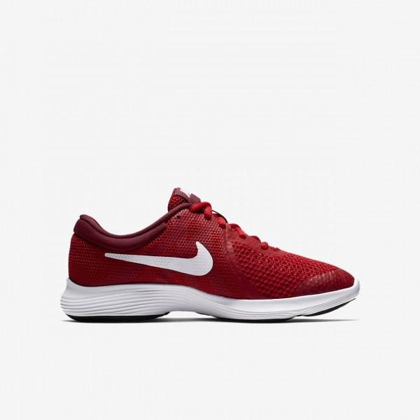 Nike Revolution 4 Laufschuhe Jungen Rot Schwarz Weiß 283-33407