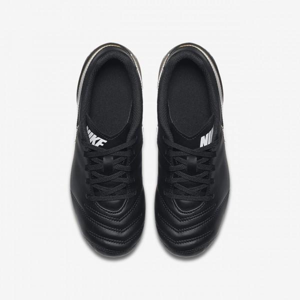 Nike Jr. Tiempo Rio III Fg Fußballschuhe Jungen Schwarz Weiß 739-25400
