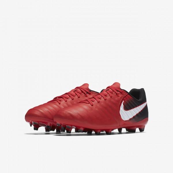 Nike Jr. Tiempo Ligera Iv Fg Fußballschuhe Jungen Schwarz Rot Weiß 690-52424