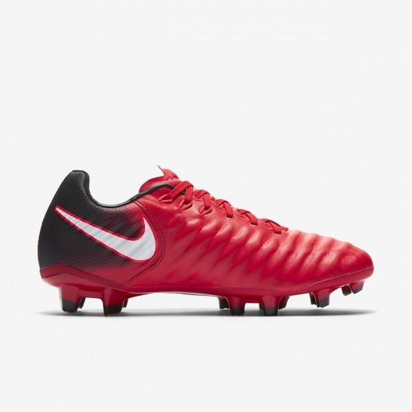 Nike Jr. Tiempo Legend Vii Fg Fußballschuhe Jungen Schwarz Rot Weiß 555-17544