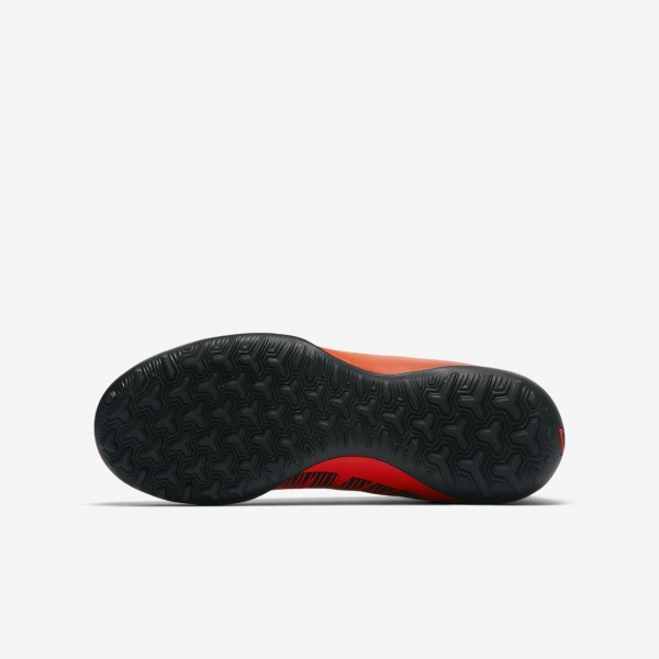 Nike Jr. Mercurialx Victory VI Dynamic Fit Tf Fußballschuhe Jungen Rot Schwarz 588-81585