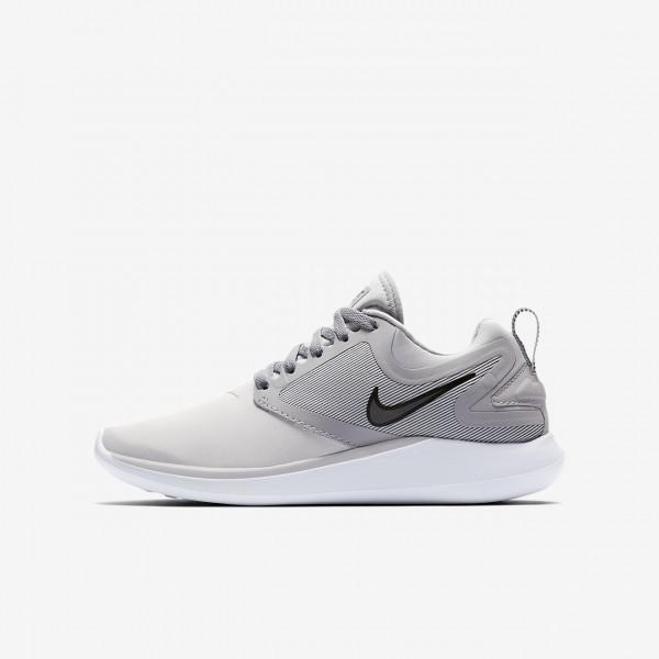 Nike Lunarsolo Laufschuhe Jungen Platin Grau Schwa...
