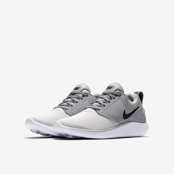 Nike Lunarsolo Laufschuhe Jungen Platin Grau Schwarz 616-66077