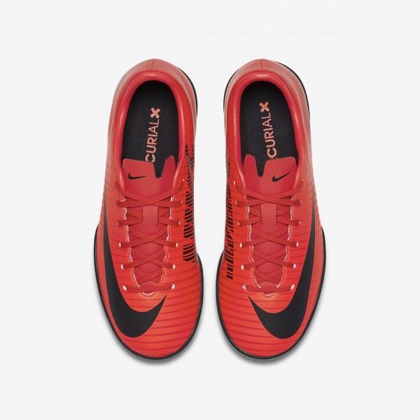 Nike Jr. Mercurial Victory VI Tf Fußballschuhe Jungen Rot Schwarz 306-40972