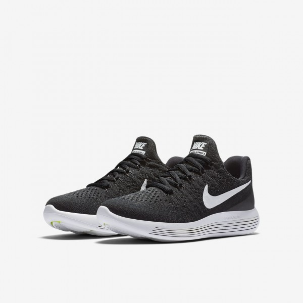 Nike Lunarepic low Flyknit 2 Laufschuhe Jungen Schwarz Weiß 896-42198