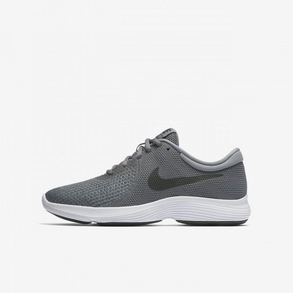 Nike Revolution 4 Laufschuhe Jungen Dunkelgrau Wei...