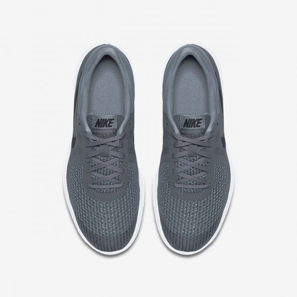 Nike Revolution 4 Laufschuhe Jungen Dunkelgrau Weiß Schwarz 542-43360