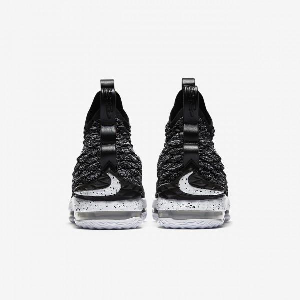 Nike Lebron 15 Basketballschuhe Jungen Schwarz Weiß 964-73533