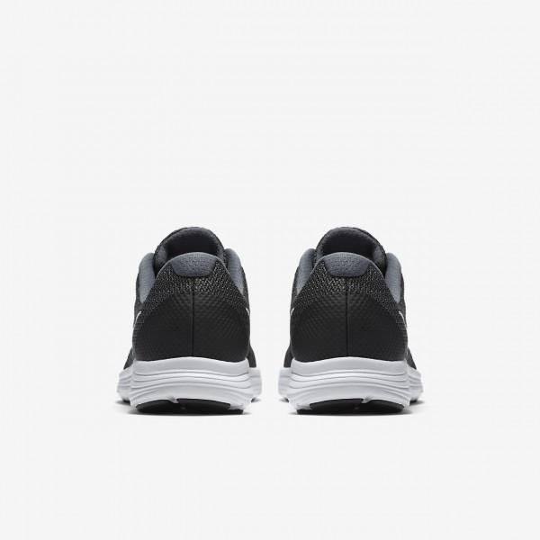Nike Revolution 3 Laufschuhe Jungen Dunkelgrau Schwarz Platin Weiß 528-62932