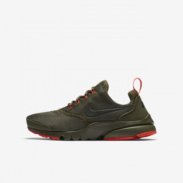 Nike Presto Fly Freizeitschuhe Jungen Olive Rot Or...