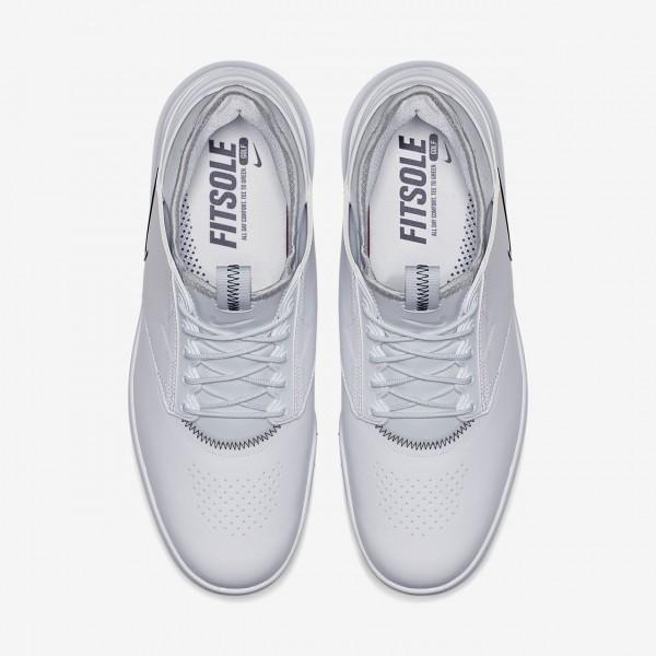 Nike Air Zoom Direct Golfschuhe Herren Weiß Metallic Silber Platin Schwarz 311-38229