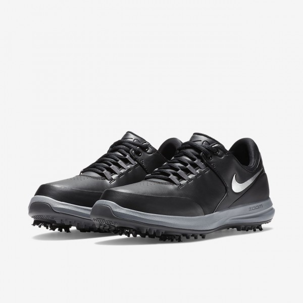 Nike Air Zoom Accurate Golfschuhe Herren Schwarz Grau Metallic Silber 833-61402