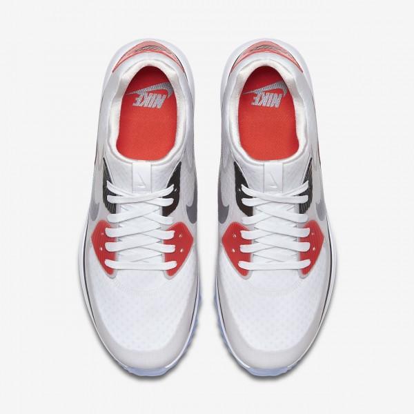 Nike Air Zoom 90 It Golfschuhe Herren Weiß Grau Schwarz 490-17847