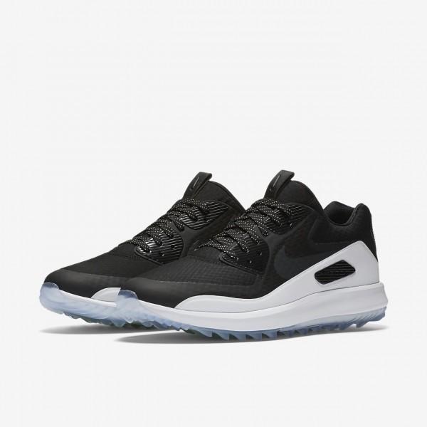 Nike Air Zoom 90 It Golfschuhe Herren Schwarz Weiß Grün 512-90691