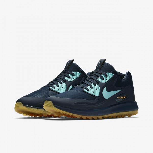 Nike Air Zoom 90 It Golfschuhe Herren Navy Orange Hellblau 963-32090