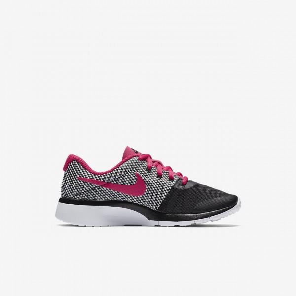 Nike Tanjun Racer Freizeitschuhe Mädchen Schwarz Platin Weiß Pink 244-42703