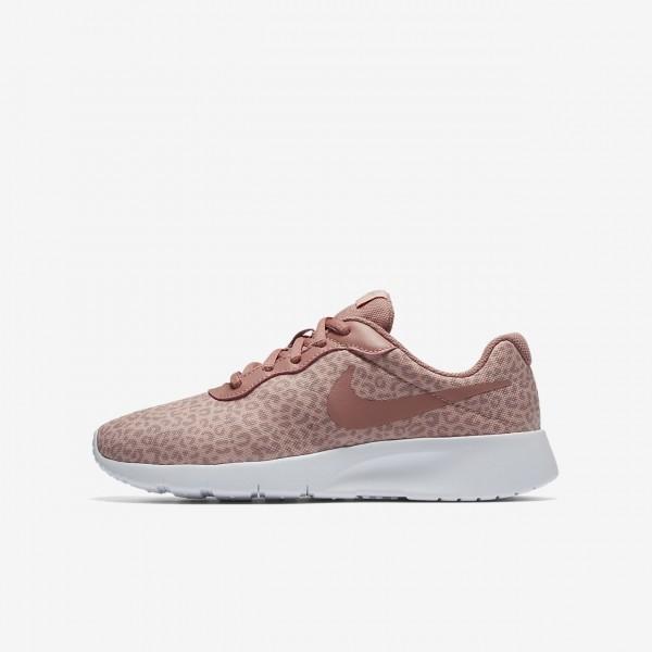 Nike Tanjun Print Freizeitschuhe Mädchen Rosa Wei...