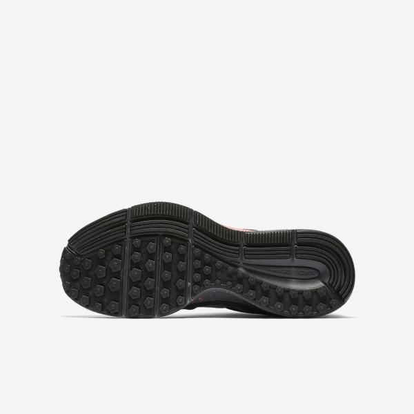 Nike Zoom Pegasus 34 Shield Laufschuhe Mädchen Dunkelgrau Pink Schwarz Silber 146-39558