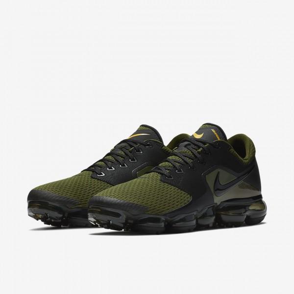 Nike Air Vapormax Laufschuhe Herren Schwarz Braun Dunkelolive 692-13311