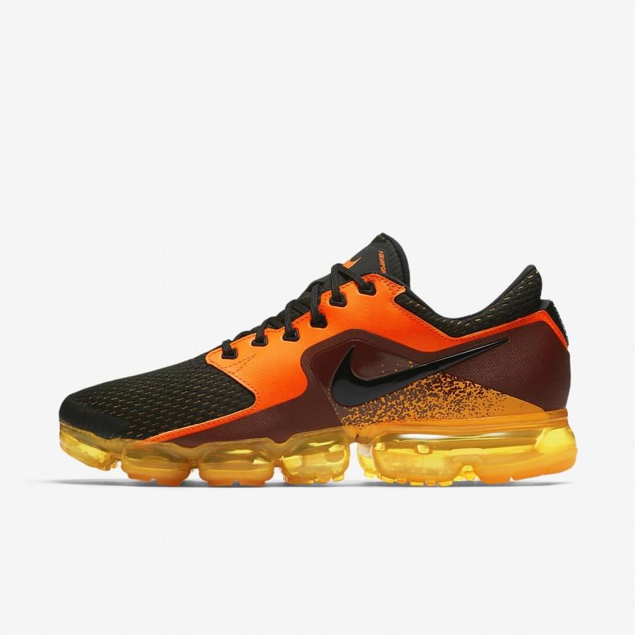 Nike Air Vapormax Laufschuhe Herren Orange Metallic Silber