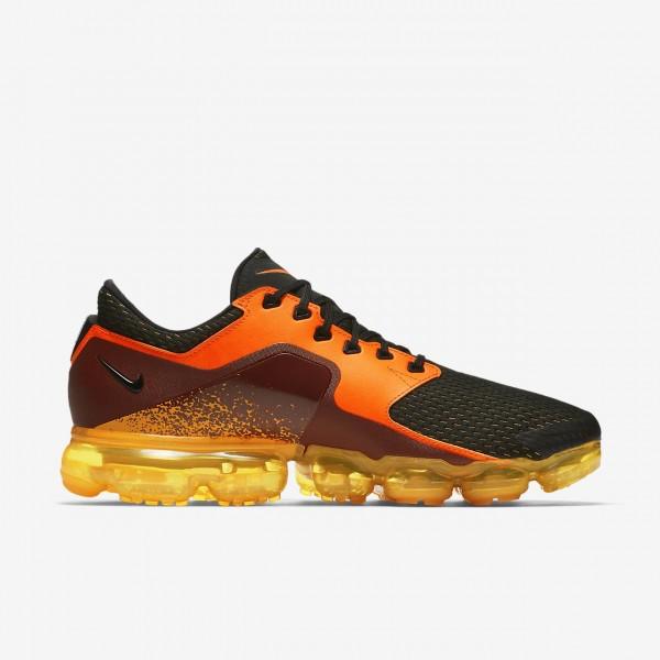 Nike Air Vapormax Laufschuhe Herren Orange Metallic Silber Rot Schwarz 536-33742