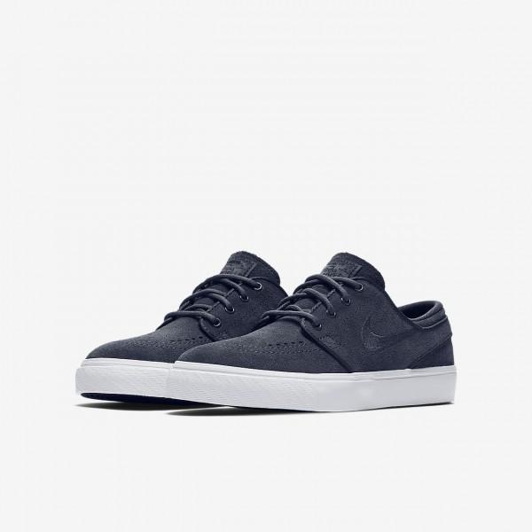 Nike Sb Zoom Stefan Janoski Skaterschuhe Mädchen Blau Schwarz Weiß 668-37666