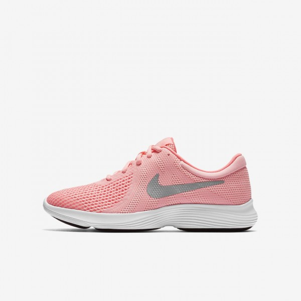 Nike Revolution 4 Laufschuhe Mädchen Rosa Weiß M...