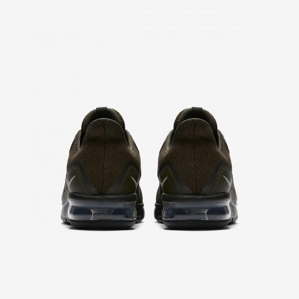 Nike Air Max Sequent 3 Laufschuhe Herren Khaki Schwarz Metallic Silber 434-50860