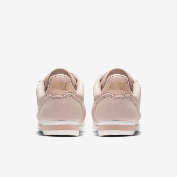 Nike Cortez Se Freizeitschuhe Damen Beige Metallic Gold Pink 179-32834