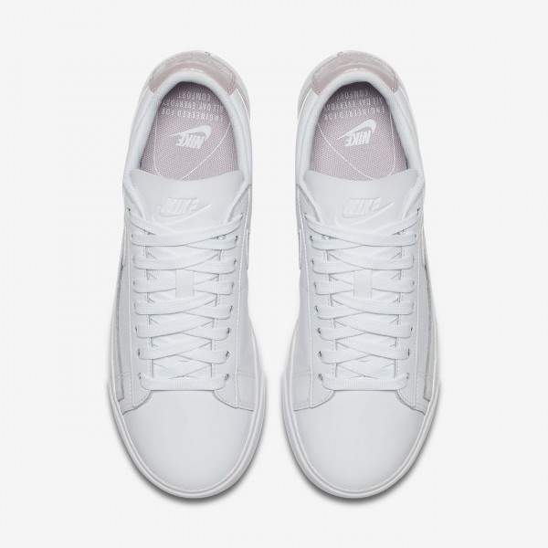 Nike Blazer low Le Freizeitschuhe Damen Weiß Rosa 694-92054