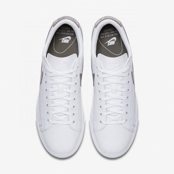 Nike Blazer low Le Freizeitschuhe Damen Weiß Dunkelolive 757-68705