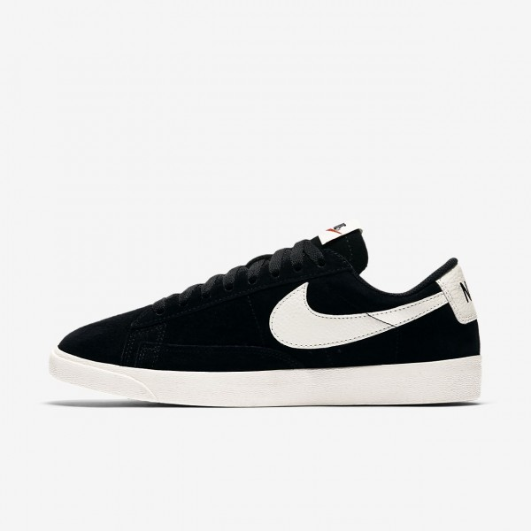 Nike Blazer low Freizeitschuhe Damen Schwarz Weiß...