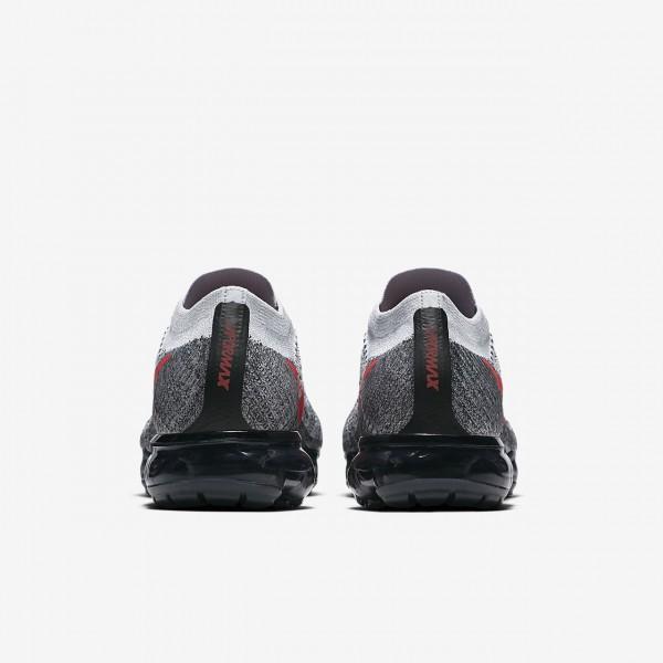Nike Air Vapormax Flyknit Laufschuhe Herren Platin Schwarz Rot 606-27324