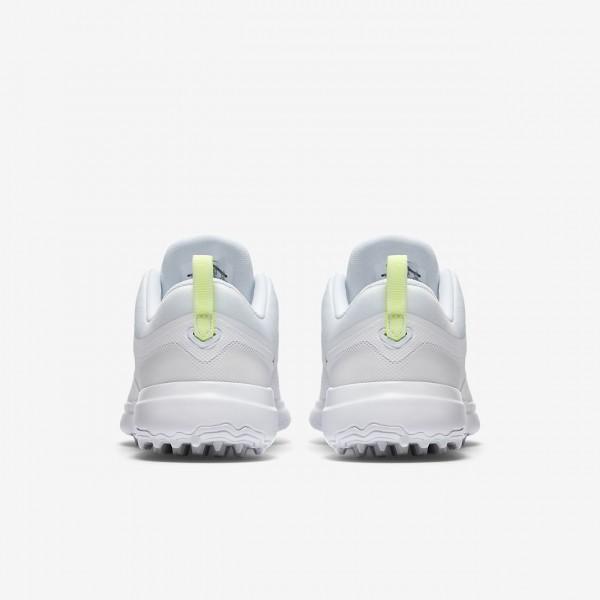 Nike Akamai Golfschuhe Damen Weiß Platin Metallic Silber 286-51940