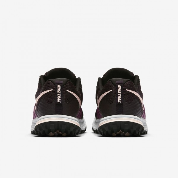 Nike Air Zoom Wildhorse 4 Laufschuhe Damen Rot Fuchsie Platin Schwarz 536-20486