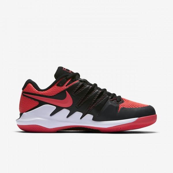 Nike Air Zoom Vapor X Tennisschuhe Damen Schwarz Weiß Rot 319-64756