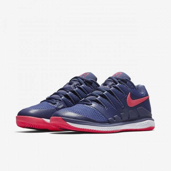 Nike Air Zoom Vapor X Tennisschuhe Damen Blau Weiß Lila Pink 615-91496