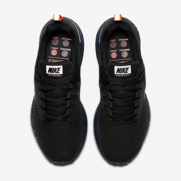 Nike Air Zoom Structure 21 Shield Laufschuhe Damen Schwarz Obsidian 791-80607