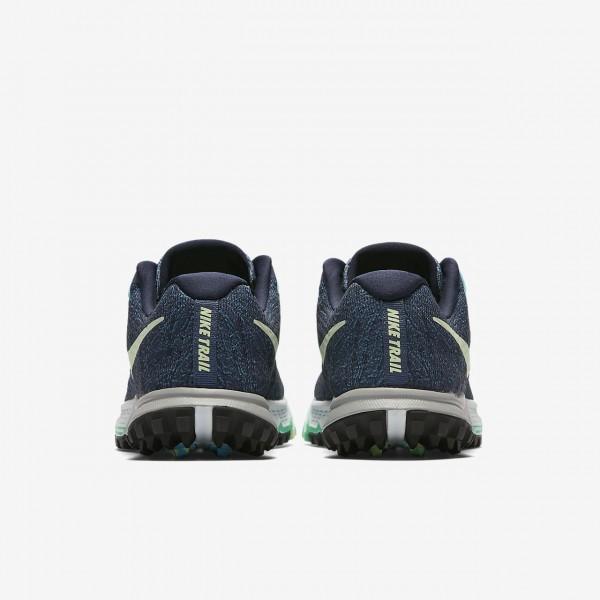 Nike Air Zoom Terra Kiger 4 Laufschuhe Damen Blau Obsidian Hellgrün Grün 647-29511
